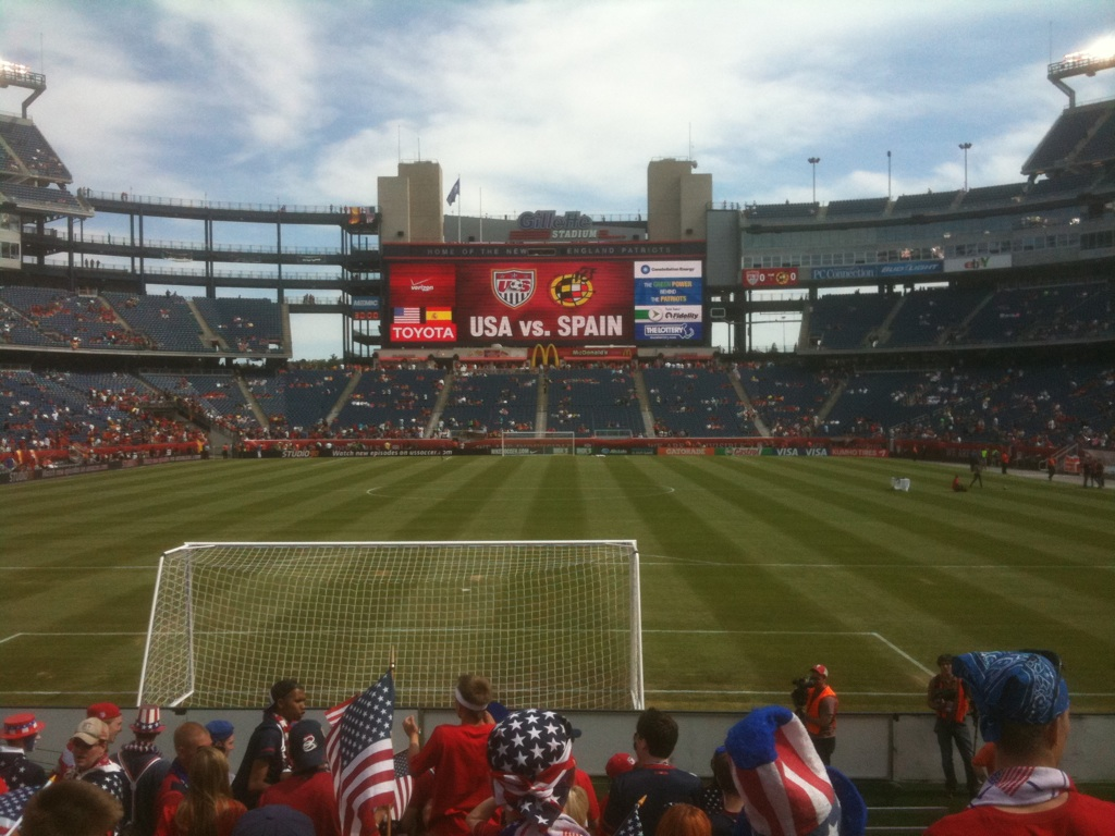 Fútbol – USA hosting Spain near Boston